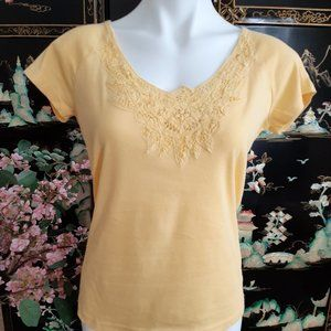 Lace Inset Tee Shirt